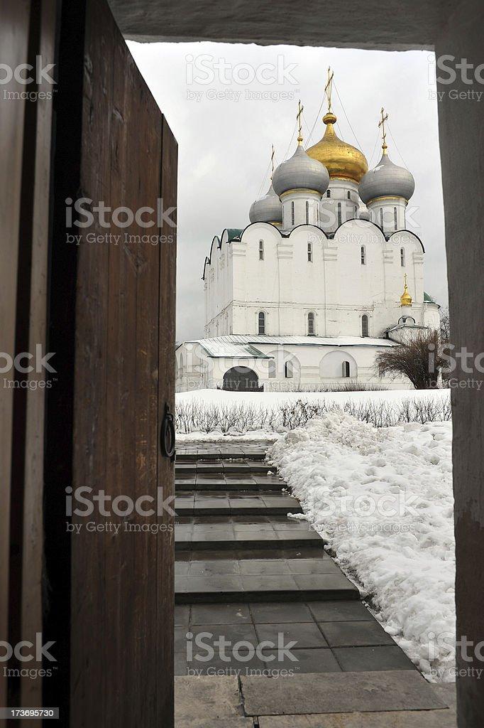 Russian doorway royalty-free stock photo