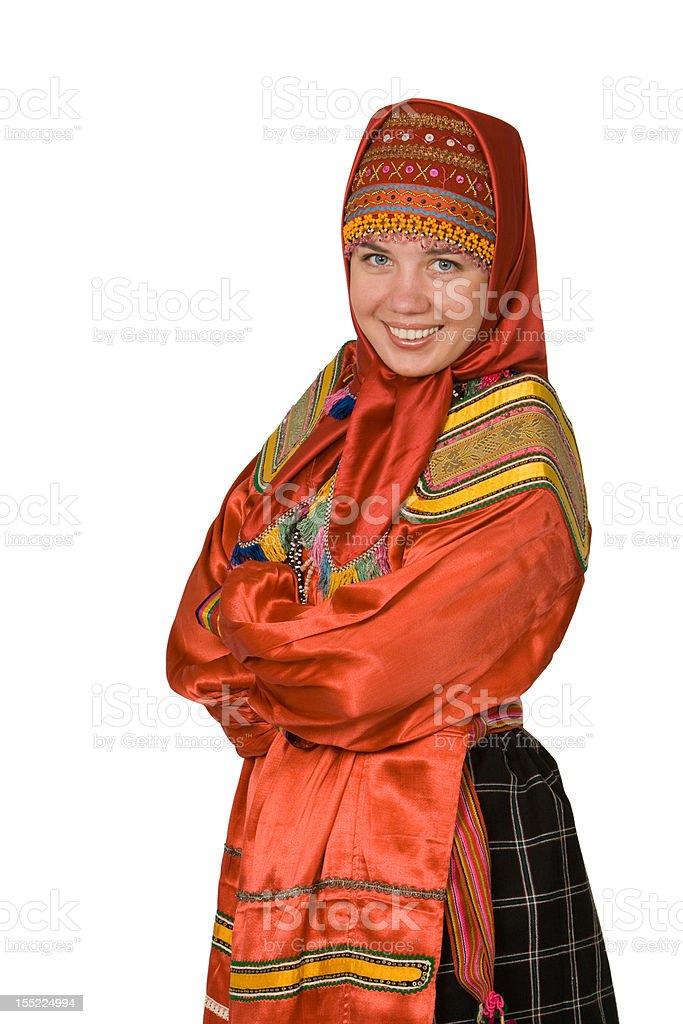 Russian dress stock photo