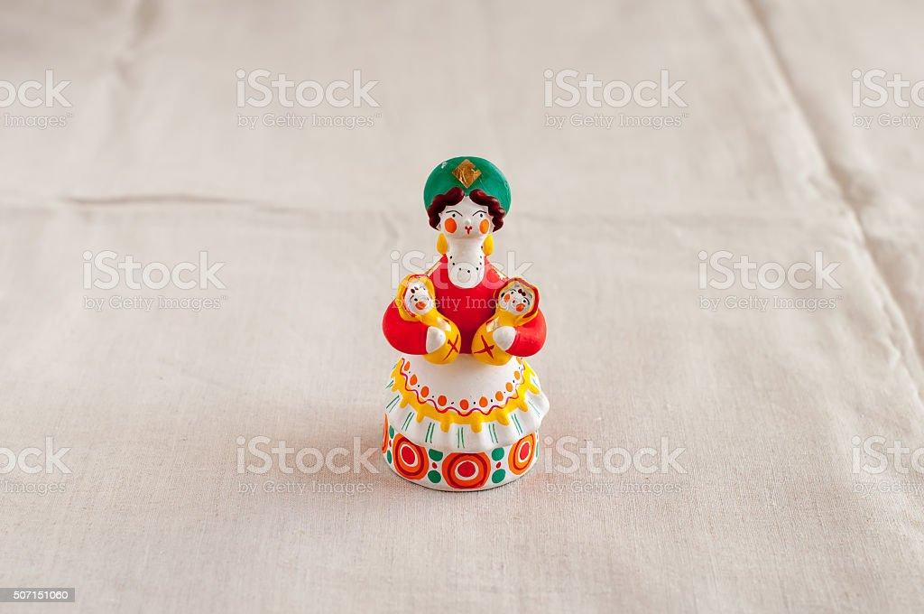 Russian Dymkovo toy stock photo