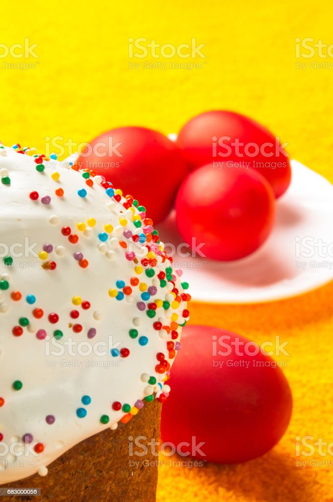 Russian Easter cake royalty-free stock photo