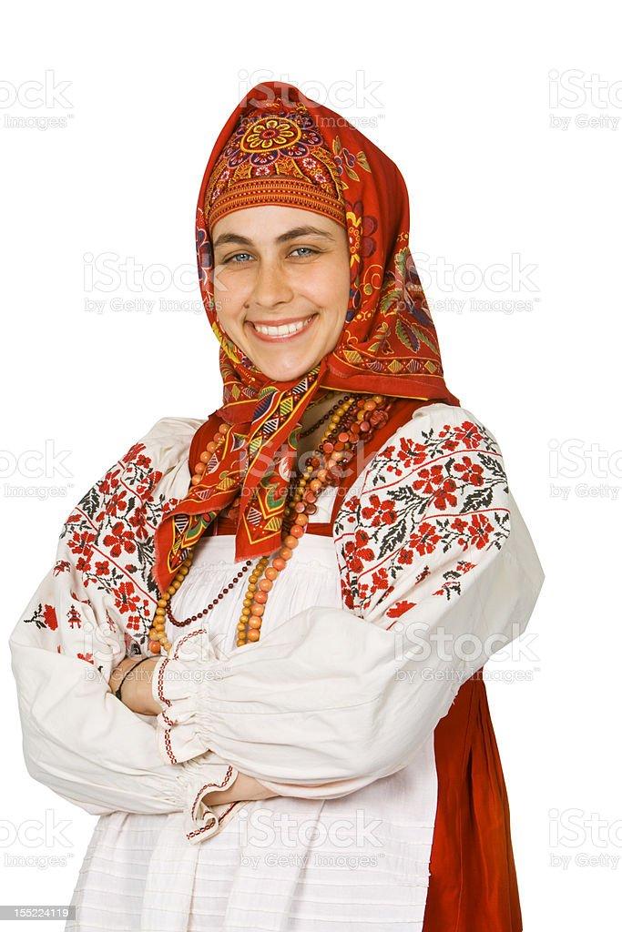 Russian ethnic dress stock photo