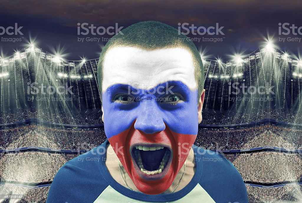 Russian fans stock photo