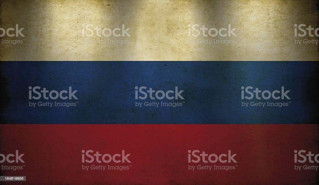 Russian Flag Grunge Wallpaper stock photo