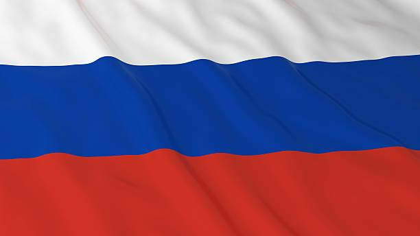 Russian Flag HD Background - Flag of Russia 3D Illustration stock photo
