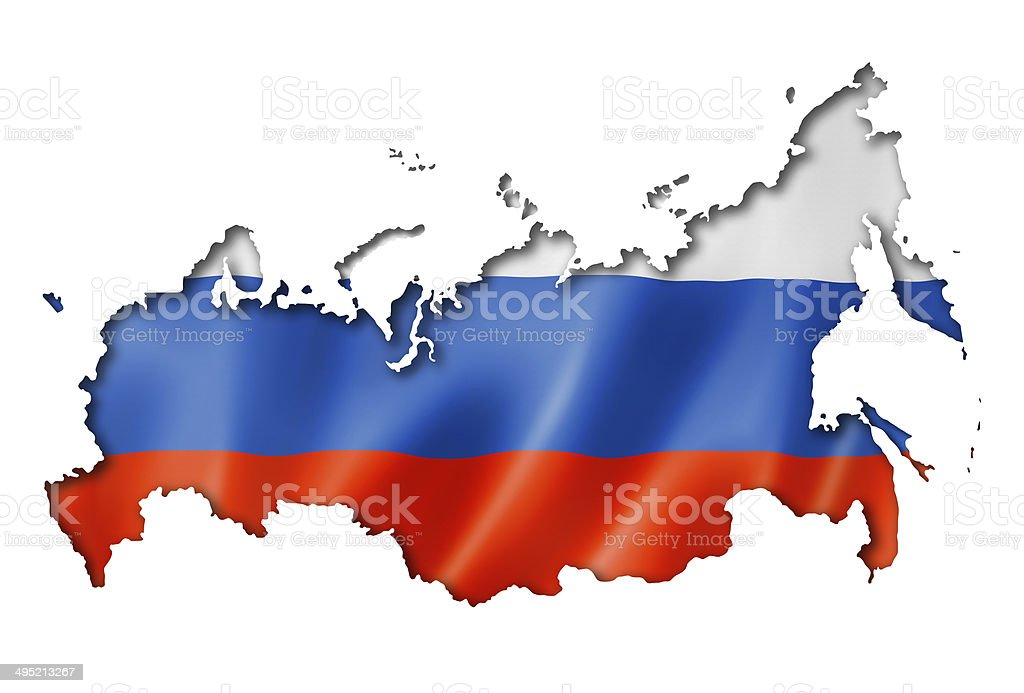 Bandeira Russa mapa - foto de acervo
