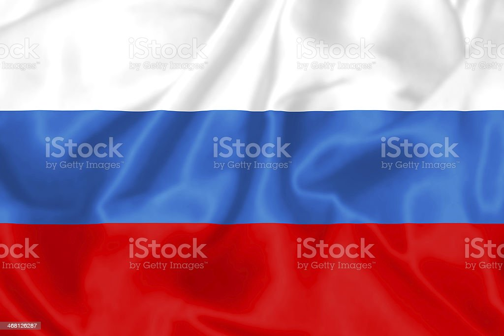 Russian Flag. royalty-free stock photo