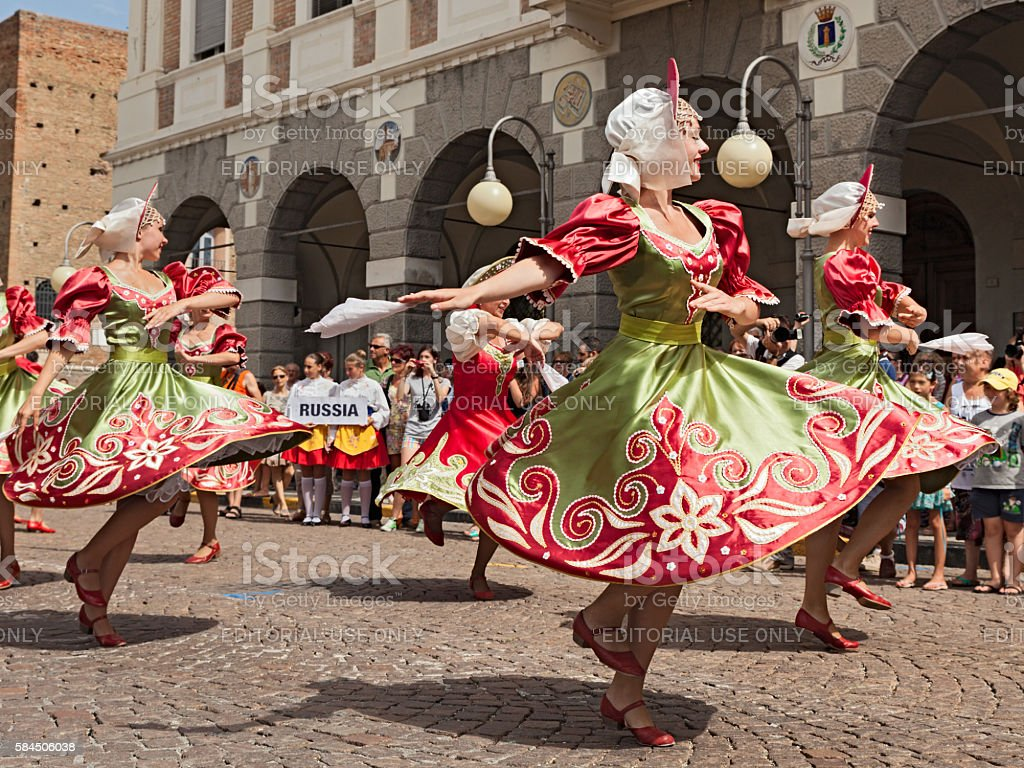 Russian folk dance stock photo