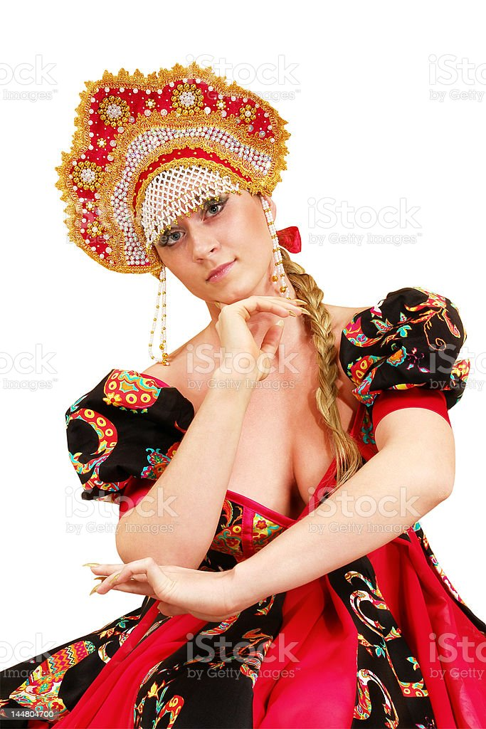Russian girl royalty-free stock photo