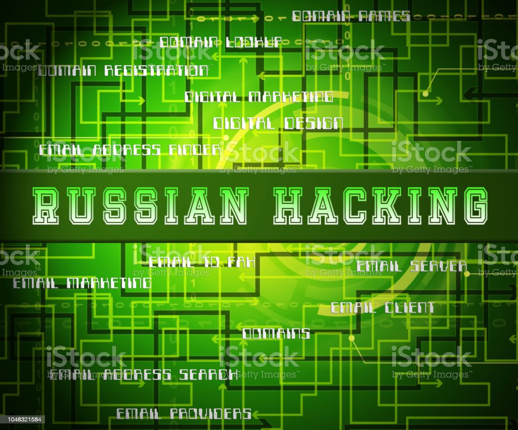 Russian Hacker Moscow Spy Campaign 2d Illustration Stock