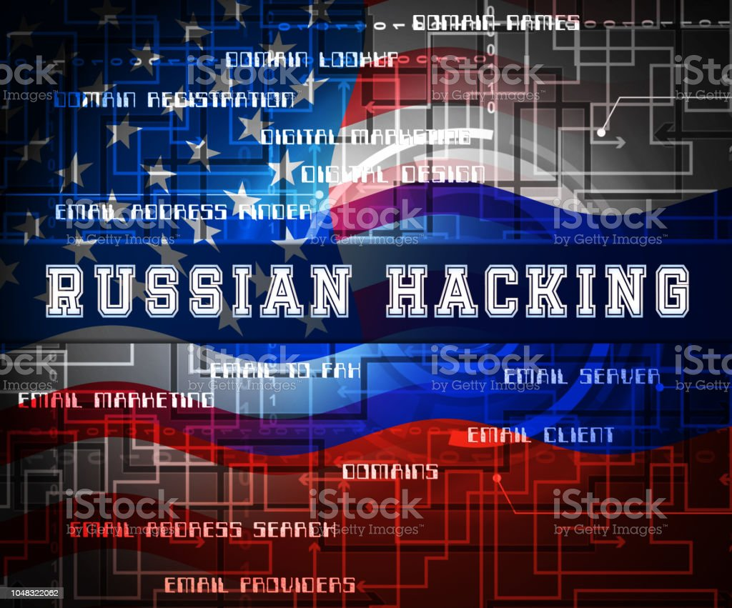 Russian Hacker Moscow Spy Campaign 2d Illustration Stock Photo