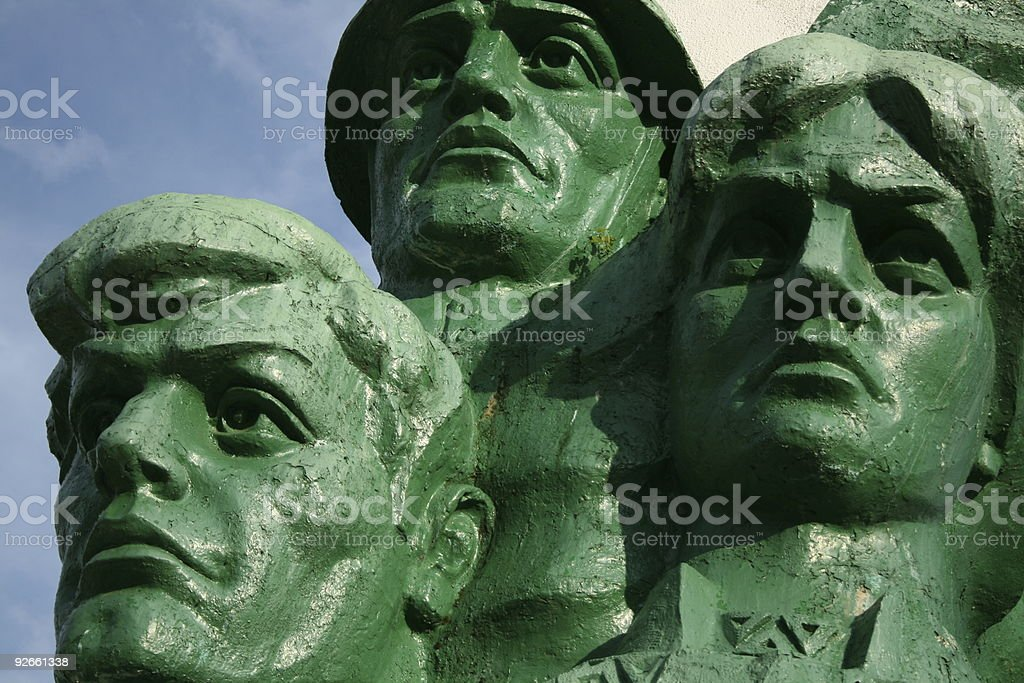 Russian heroes monument. royalty-free stock photo