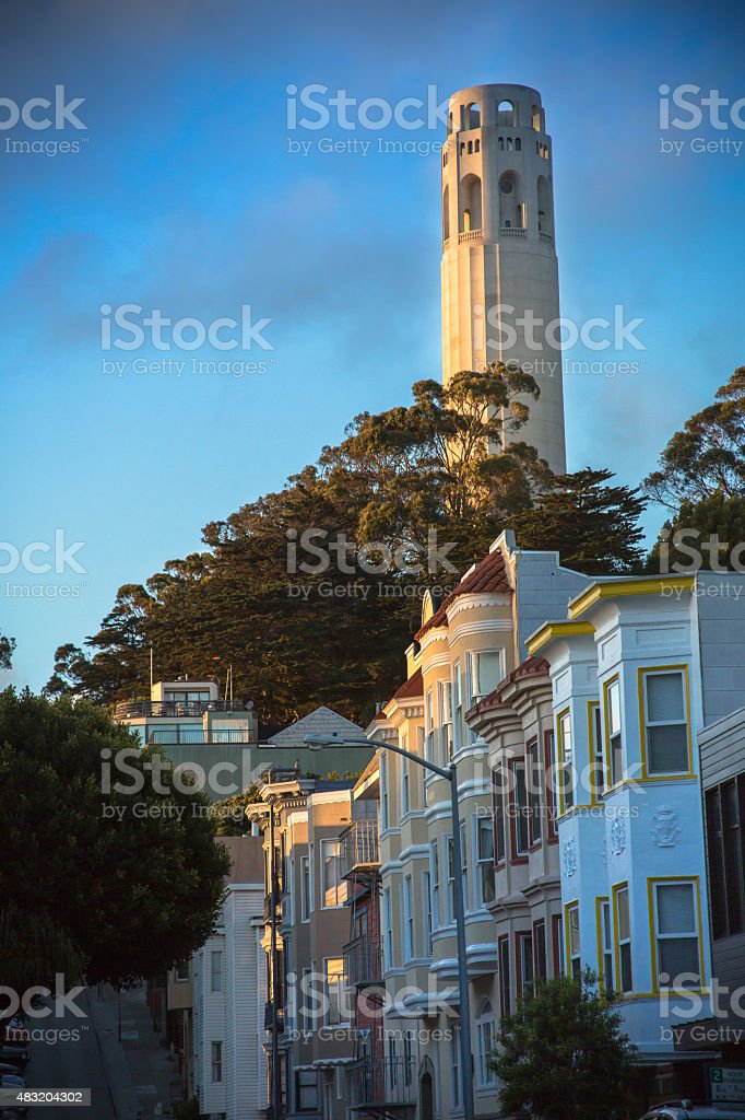 Russian Hill, San Francisco stock photo