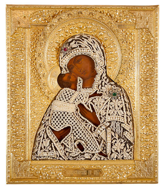 Russian Icon, 19th Century, Feodorovskaya Mother of God 19th century Russian icon,