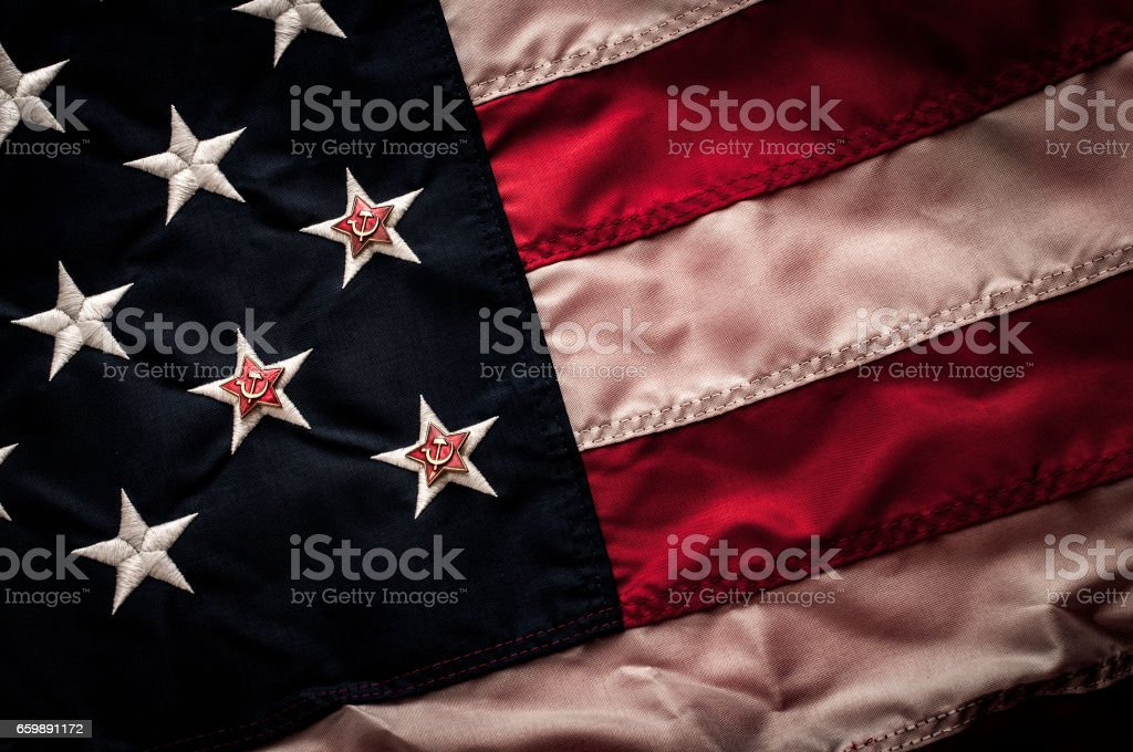 Russian interference in American elections stock photo