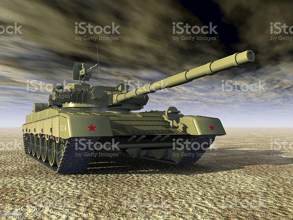 Russian Main Battle Tank stock photo