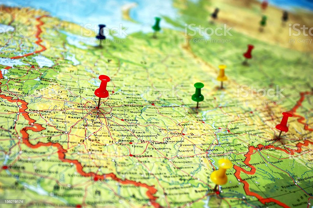 Russian map royalty-free stock photo