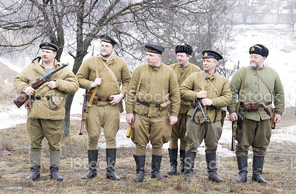 Russian marines rank royalty-free stock photo