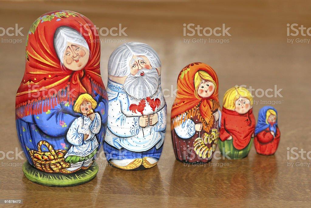 russian matrioshkas royalty-free stock photo