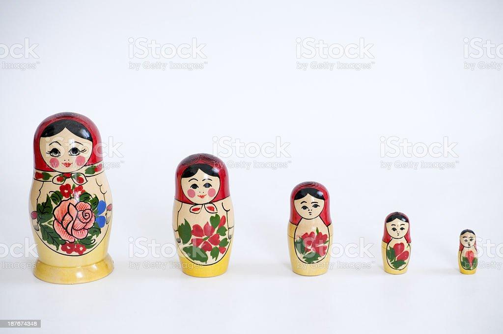 Russian Matrioska royalty-free stock photo