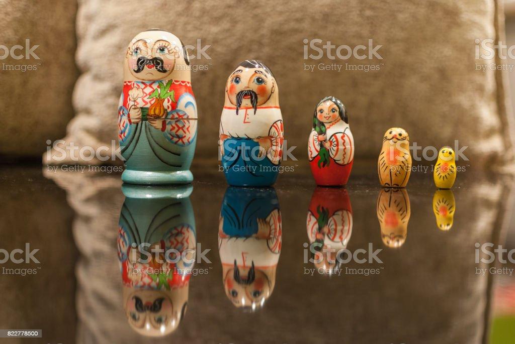 Russian matryoshka dolls stock photo