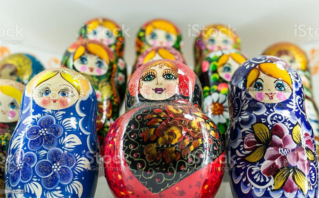 Russian Matryoshka Nesting Dolls stock photo