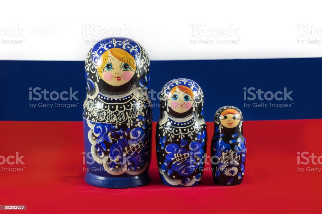 Russian Matryoshka nesting dolls royalty-free stock photo