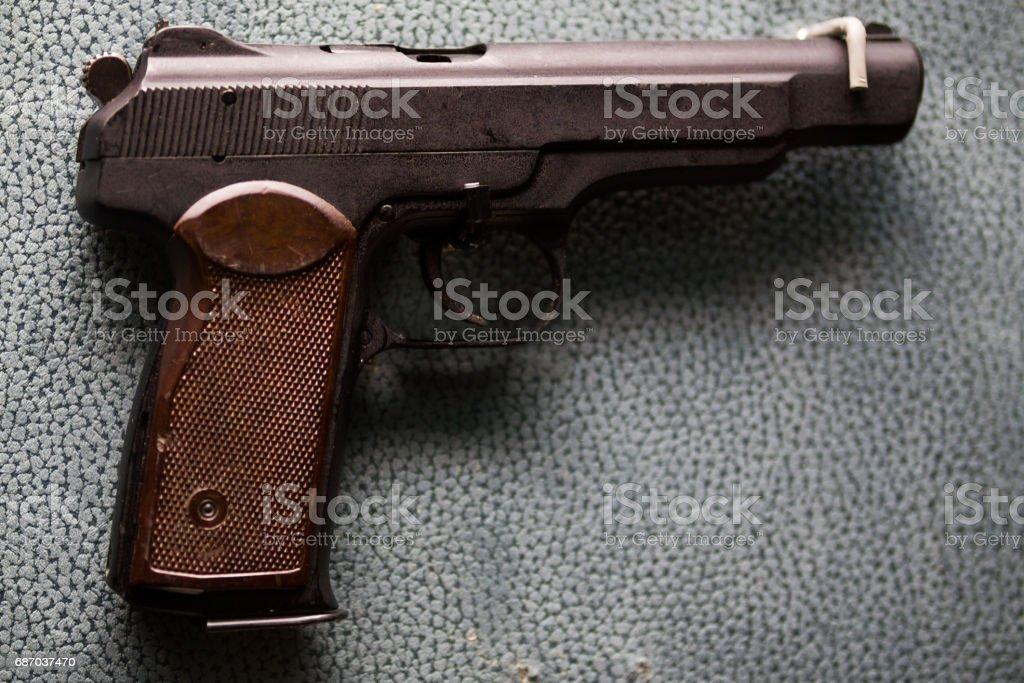 Russische Militär Pistole - APS Stechkin - sowjetische Waffe Lizenzfreies stock-foto