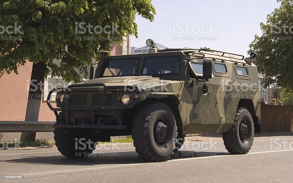 Russian military vehicle 'TIGR' (Tiger) stock photo