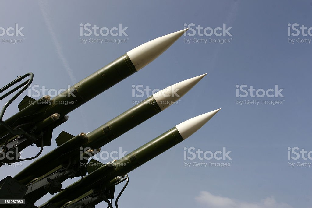 Russian missiles stock photo