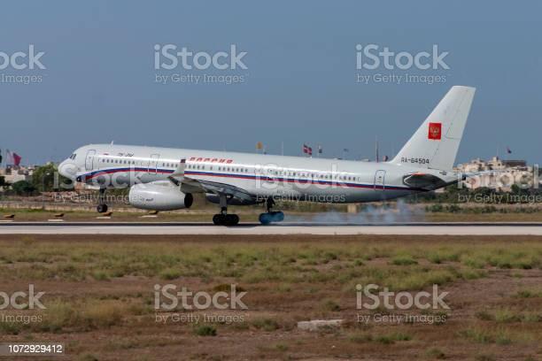 Russian modern Tu-214 airliner