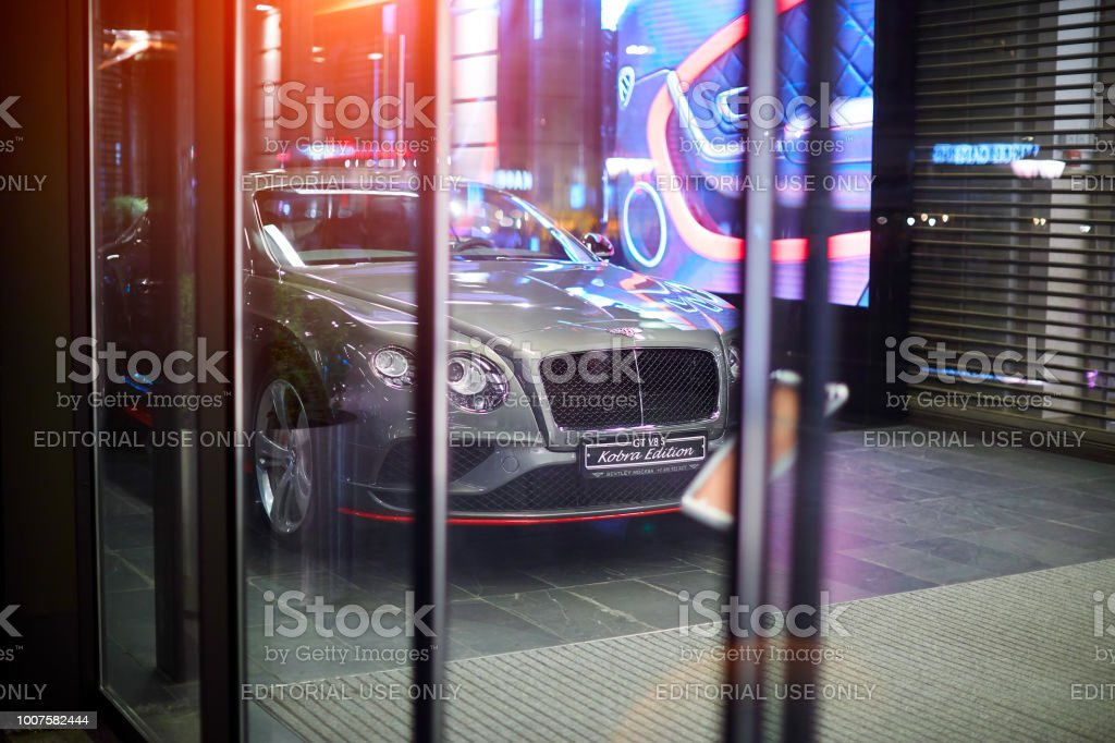 Russian, moscow july 22, 2018. Bentley cobra edition. Car in the Trading House TSUM stock photo