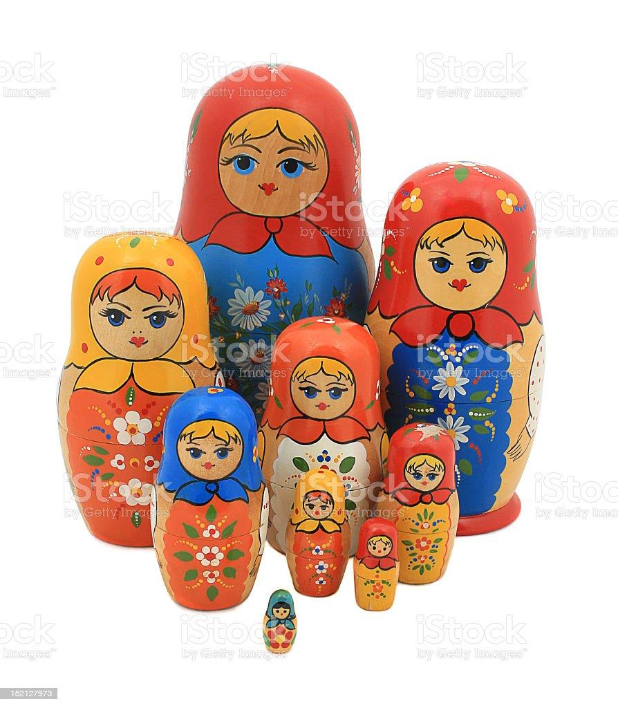 russian national souvenir matreshka royalty-free stock photo