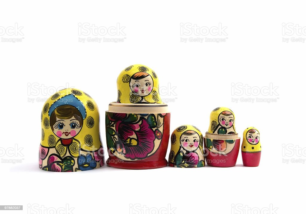 Russian nested dolls stock photo