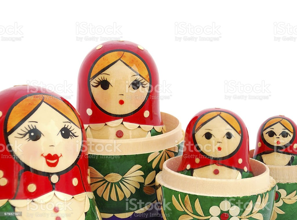 Russian Nested Dolls royalty-free stock photo