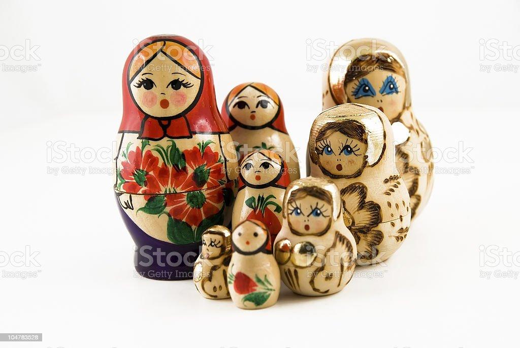 Russian nesting doll (Matrushka or Matrjoshka) royalty-free stock photo