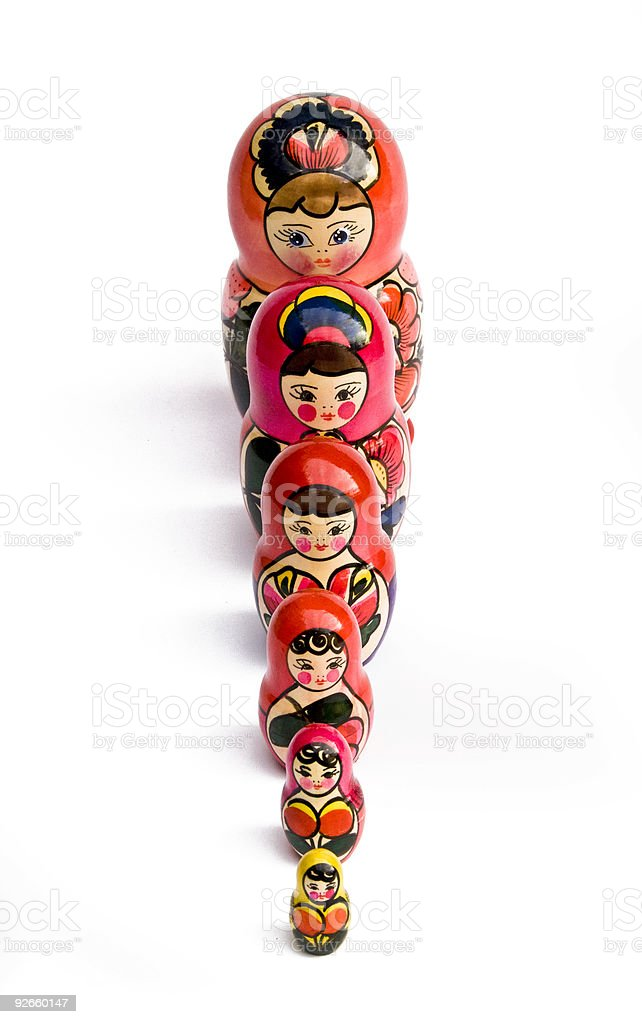 Russian Nesting Dolls also known as Babushkas royalty-free stock photo
