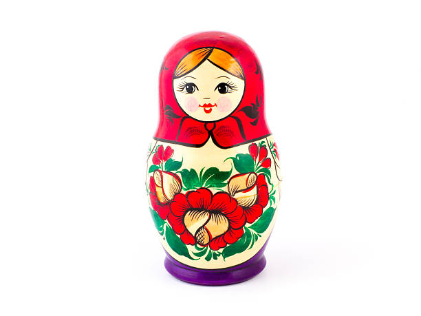 Russian nesting dolls. Babushkas or matryoshkas stock photo