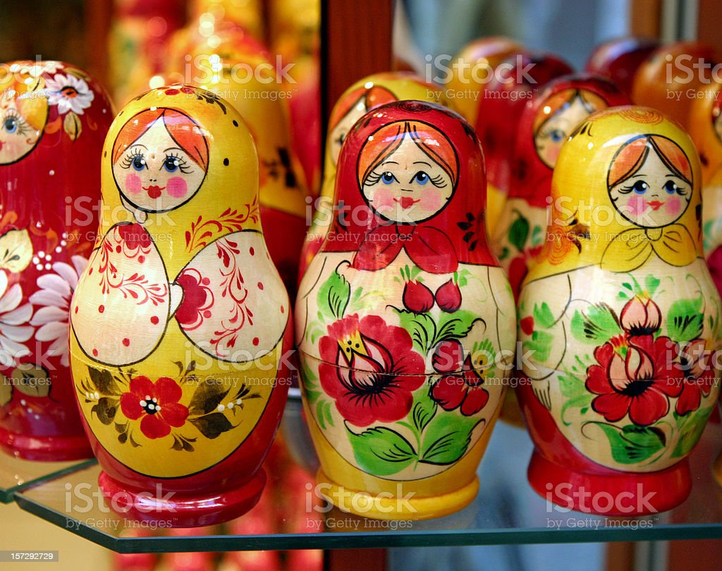 Russian Nesting Dolls in Prague royalty-free stock photo