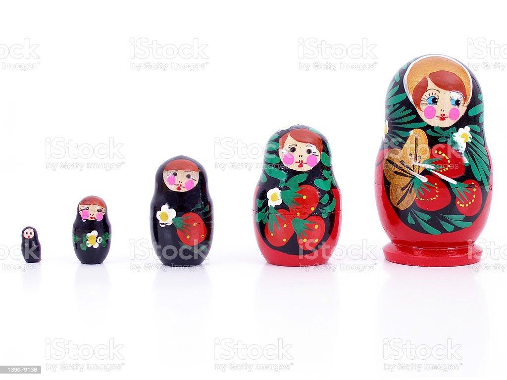 Russian Nesting Dolls stock photo