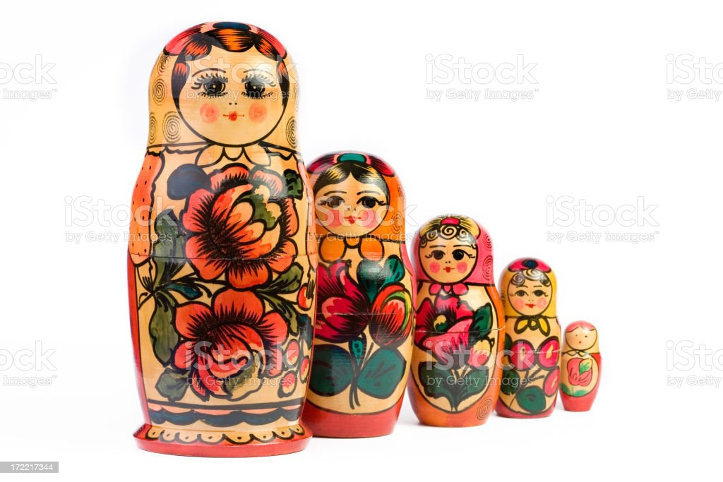 Russian Nesting Dolls stock photo
