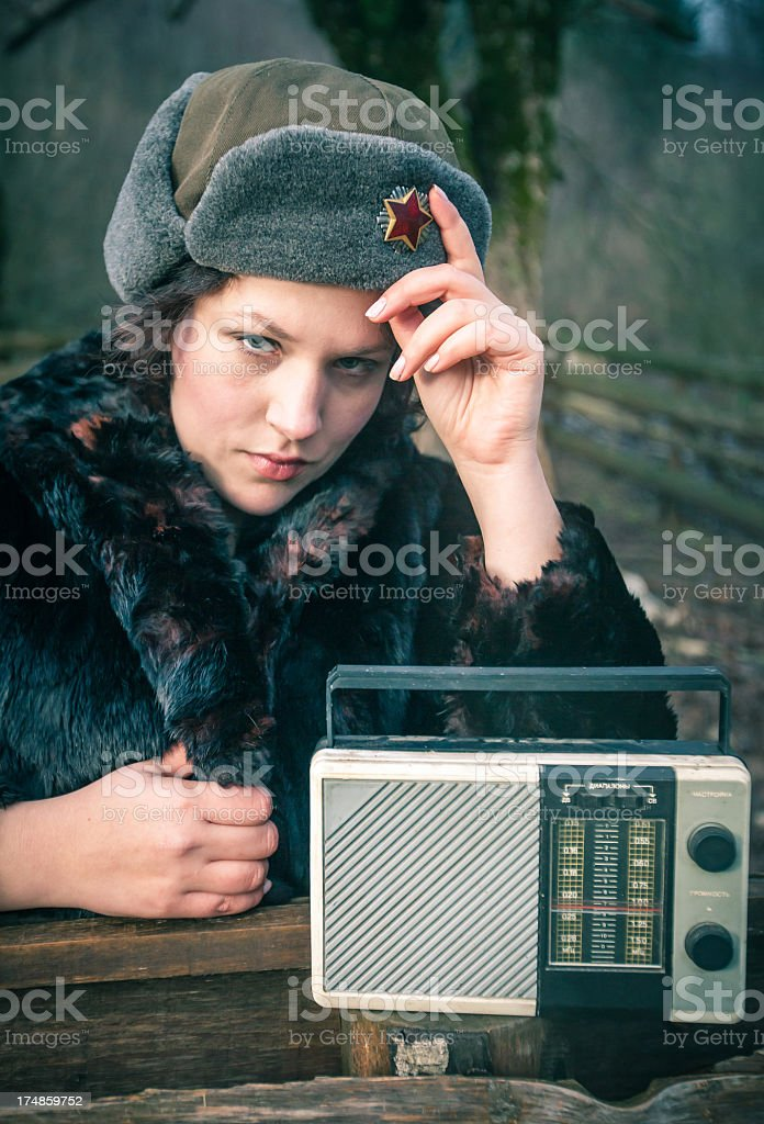 Russian news royalty-free stock photo