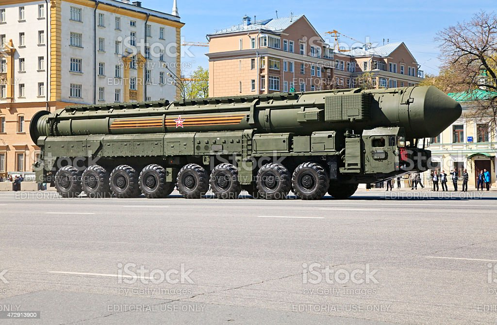Russian nuclear missile RS-24 Yars stock photo
