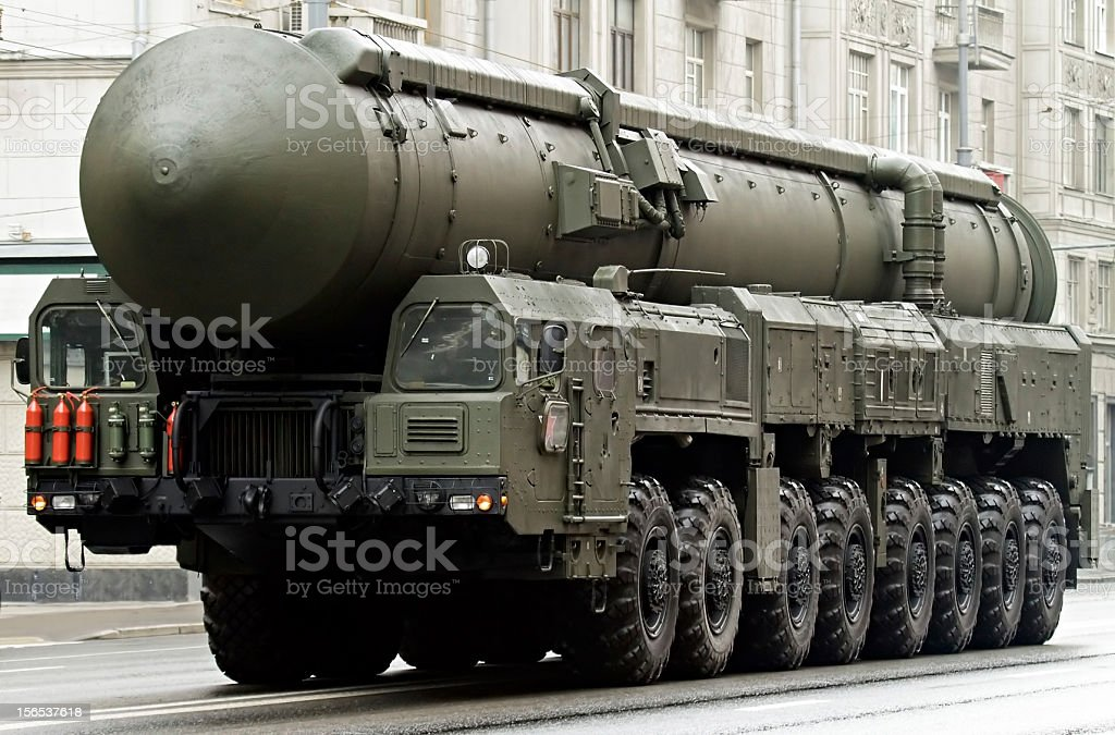 Russian nuclear missile Topol-M, Moscow, Russia royalty-free stock photo