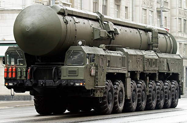 Russian nuclear missile Topol-M, Moscow, Russia Russian nuclear missile