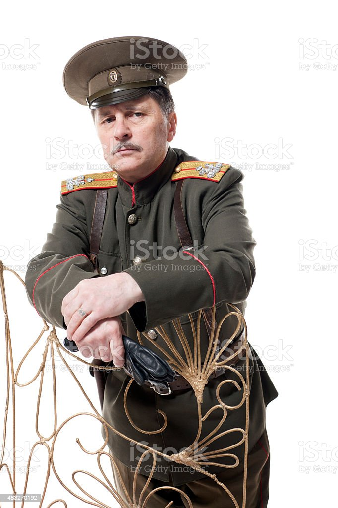 Russian officer stock photo