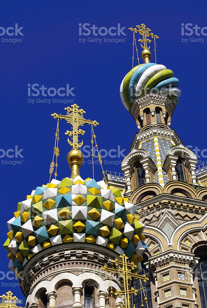 Russian Onion domes royalty-free stock photo