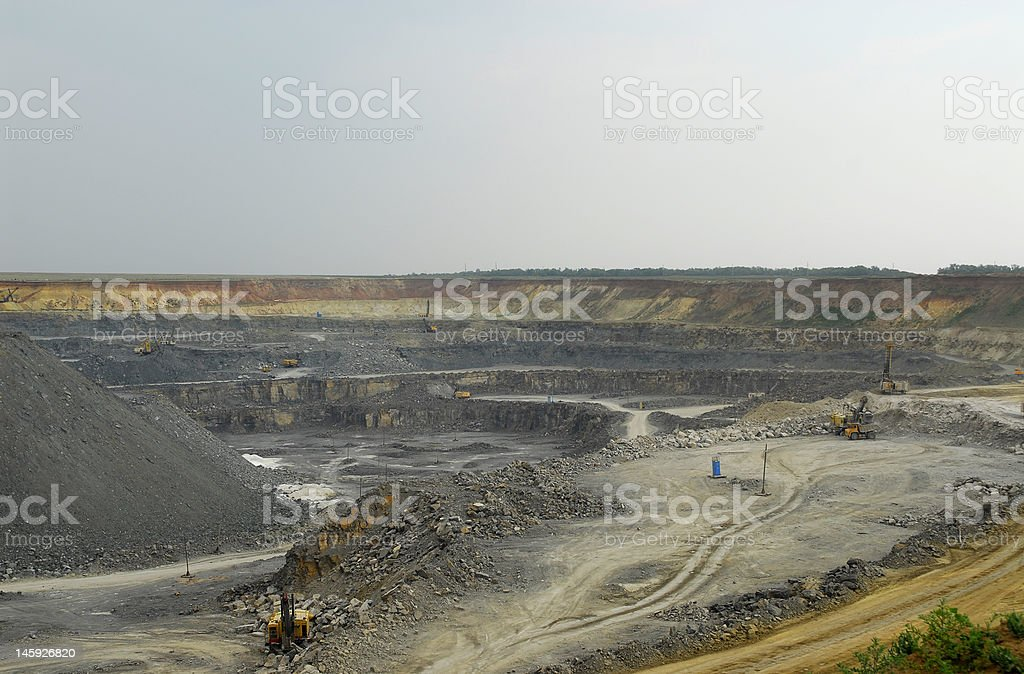 Russian opencast royalty-free stock photo