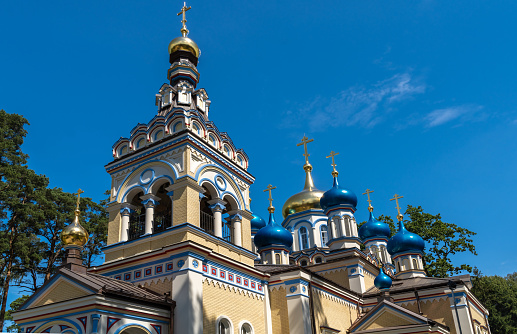 Russian orthodox church in Jurmala, a resort town in Latvia, sandwiched between the Gulf of Riga (Baltic Sea) and the Lielupe River, about 25 kilometres west of Riga.