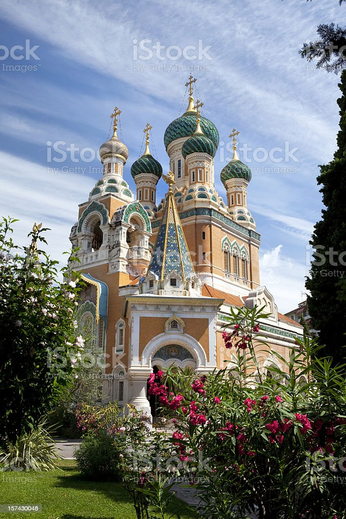 Russian Orthodox Church in Nice France royalty-free stock photo
