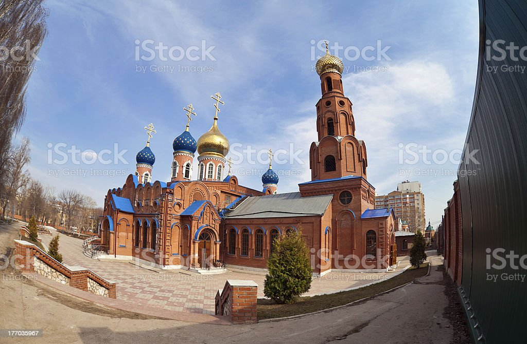 Russian orthodox church in Samara, Russia royalty-free stock photo